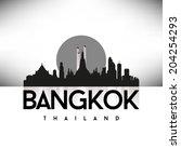 bangkok thailand  skyline... | Shutterstock .eps vector #204254293
