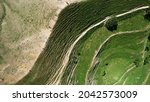 Aerial Top View View Of A...