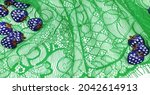 Lace Fabric In Green. Royal...