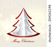 merry christmas card   Shutterstock .eps vector #204262198