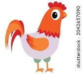 vector chicken poultry clip art ...   Shutterstock .eps vector #2042657090