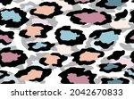 abstract modern leopard... | Shutterstock .eps vector #2042670833