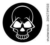 black and white human skull... | Shutterstock .eps vector #2042739533
