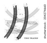 tire tracks. vector... | Shutterstock .eps vector #204274660