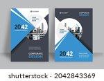 corporate book cover design... | Shutterstock .eps vector #2042843369