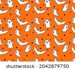halloween seamless pattern...   Shutterstock .eps vector #2042879750