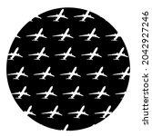circle airplane shameless... | Shutterstock .eps vector #2042927246