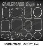 hand drawn chalkboard frames set | Shutterstock .eps vector #204294163