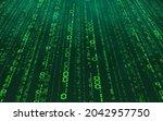 green matrix digital background....   Shutterstock .eps vector #2042957750