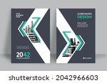corporate book cover design... | Shutterstock .eps vector #2042966603