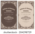 wedding invitation cards ... | Shutterstock .eps vector #204298729