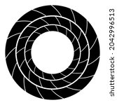 cyclical circle  helix  volute... | Shutterstock .eps vector #2042996513