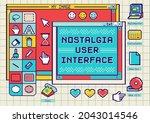 nostalgia user interface with...
