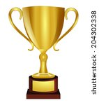 golden shiny trophy  vector art ... | Shutterstock .eps vector #204302338