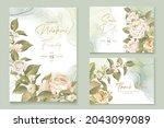 elegant floral invtation card... | Shutterstock .eps vector #2043099089