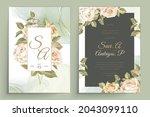 elegant floral invtation card... | Shutterstock .eps vector #2043099110