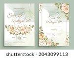 elegant floral invtation card... | Shutterstock .eps vector #2043099113