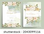 elegant floral invtation card... | Shutterstock .eps vector #2043099116