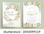 elegant floral invtation card... | Shutterstock .eps vector #2043099119
