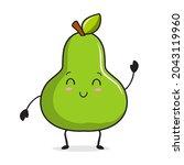 pear cartoon illustration pear...   Shutterstock .eps vector #2043119960