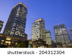 the building in japan and tokyo ... | Shutterstock . vector #204312304