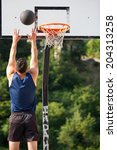 basketball player in action | Shutterstock . vector #204313258