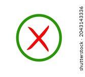 cross sign vector.cross sign...   Shutterstock .eps vector #2043143336