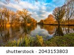 Picturesque River In The Autumn ...