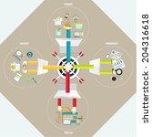 set of flat design concept...   Shutterstock .eps vector #204316618