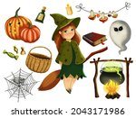 Set Of Halloween Elements....