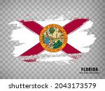 flag of  florida from brush...