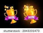 ui game winner badge  vector...