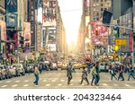 new york city  december 22 2013 ... | Shutterstock . vector #204323464
