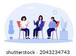pregnant women consulting... | Shutterstock .eps vector #2043234743