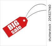 big sale tag label | Shutterstock . vector #204327460