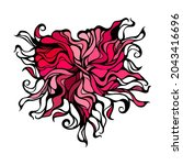 abstract heart vignette pattern.... | Shutterstock .eps vector #2043416696