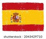 vector flag of spain in grunge... | Shutterstock .eps vector #2043429710