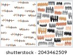 funny abstract seamless vector...   Shutterstock .eps vector #2043462509