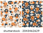 cute abstract seamless vector...   Shutterstock .eps vector #2043462629