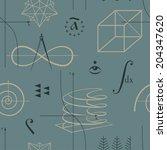 mathematics seamless pattern... | Shutterstock .eps vector #204347620