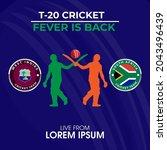 t 20 cricket tournament south...   Shutterstock .eps vector #2043496439