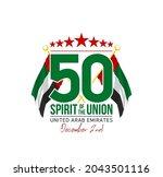 fifty uae national day  spirit...   Shutterstock .eps vector #2043501116