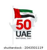 fifty uae national day  spirit...   Shutterstock .eps vector #2043501119