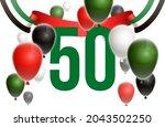fifty uae national day  spirit...   Shutterstock .eps vector #2043502250
