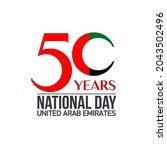 fifty uae national day  spirit...   Shutterstock .eps vector #2043502496