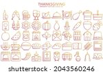 thanksgiving day gradient icons ...
