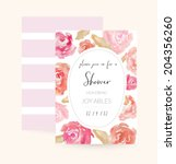 bridal shower invitation...   Shutterstock .eps vector #204356260