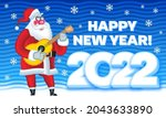 vector greeting card happy new... | Shutterstock .eps vector #2043633890