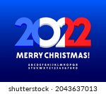 vector merry christmas 2022... | Shutterstock .eps vector #2043637013