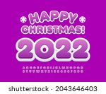 vector colorful card happy... | Shutterstock .eps vector #2043646403